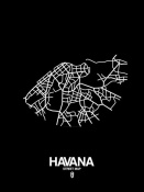 NAXART Studio - Havana Street Map Black