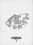 NAXART Studio - Havana Street Map White
