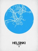 NAXART Studio - Helsinki Street Map Blue
