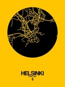 NAXART Studio - Helsinki Street Map Yellow