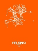 NAXART Studio - Helsinki Street Map Orange