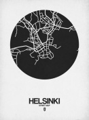 NAXART Studio - Helsinki Street Map Black on White