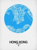 NAXART Studio - Hong Kong Street Map Blue