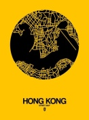 NAXART Studio - Hong Kong Street Map Yellow