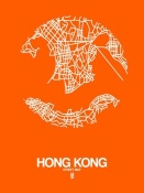 NAXART Studio - Hong Kong Street Map Orange