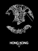 NAXART Studio - Hong Kong Street Map Black