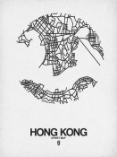 NAXART Studio - Hong Kong Street Map White