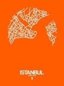 NAXART Studio - Istanbul Street Map Orange
