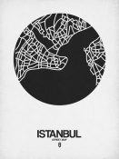 NAXART Studio - Istanbul Street Map Black on White