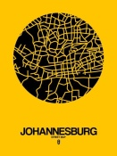NAXART Studio - Johannesburg Street Map Yellow