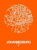 NAXART Studio - Johannesburg Street Map Orange