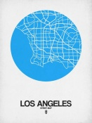 NAXART Studio - Los Angeles Street Map Blue