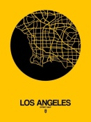 NAXART Studio - Los Angeles Street Map Yellow