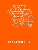 NAXART Studio - Los Angeles Street Map Orange