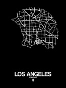 NAXART Studio - Los Angeles Street Map Black
