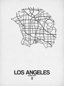 NAXART Studio - Los Angeles Street Map White