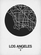 NAXART Studio - Los Angeles Street Map Black on White