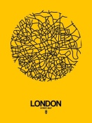 NAXART Studio - London Street Map Yellow
