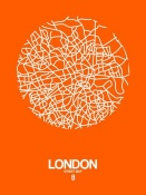 NAXART Studio - London Street Map Orange