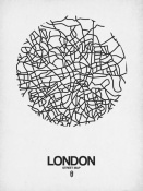 NAXART Studio - London Street Map White