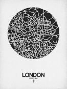 NAXART Studio - London Street Map Black on White