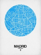 NAXART Studio - Madrid Street Map Blue