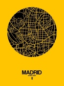 NAXART Studio - Madrid Street Map Yellow