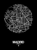 NAXART Studio - Madrid Street Map Black