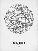 NAXART Studio - Madrid Street Map White