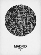 NAXART Studio - Madrid Street Map Black on White