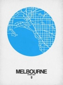 NAXART Studio - Melbourne Street Map Blue