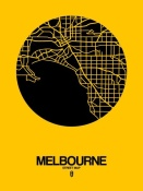 NAXART Studio - Melbourne Street Map Yellow