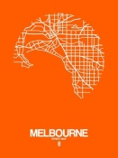 NAXART Studio - Melbourne Street Map Orange