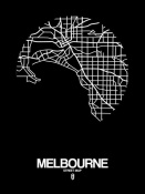 NAXART Studio - Melbourne Street Map Black
