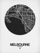NAXART Studio - Melbourne Street Map Black on White