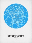NAXART Studio - Mexico City Street Map Blue