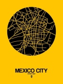 NAXART Studio - Mexico City Street Map Yellow