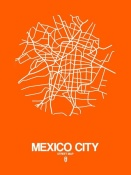 NAXART Studio - Mexico City Street Map Orange