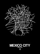 NAXART Studio - Mexico City Street Map Black