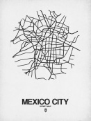NAXART Studio - Mexico City Street Map White