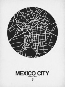 NAXART Studio - Mexico City Street Map Black on White