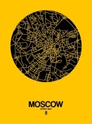 NAXART Studio - Moscow Street Map Yellow