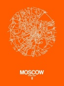 NAXART Studio - Moscow Street Map Orange