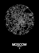 NAXART Studio - Moscow Street Map Black