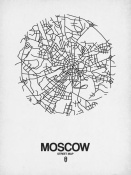 NAXART Studio - Moscow Street Map White