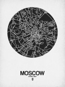 NAXART Studio - Moscow Street Map Black on White