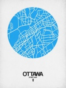 NAXART Studio - Ottawa Street Map Blue