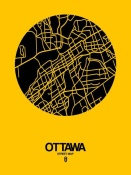 NAXART Studio - Ottawa Street Map Yellow