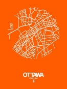 NAXART Studio - Ottawa Street Map Orange
