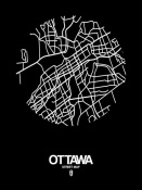 NAXART Studio - Ottawa Street Map Black
